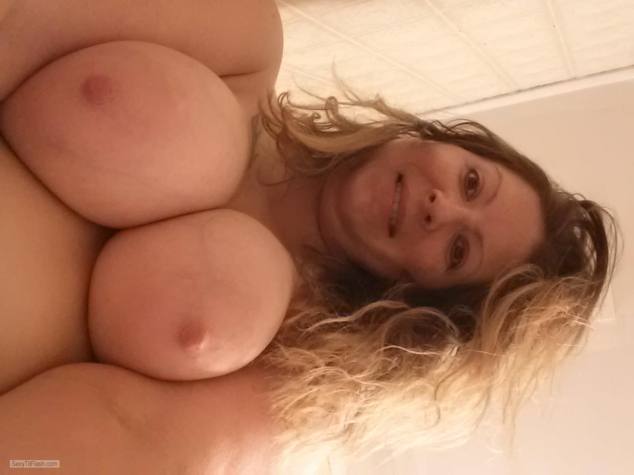 Tit Flash: My Very Big Tits (Selfie) - Topless Jenny Jenny from United States